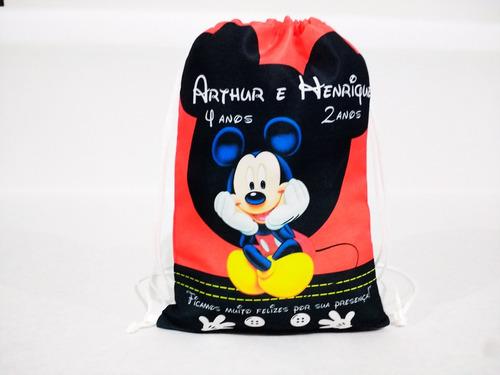 40 mochilinhas sacochila sacolinhas personalizado silkshow