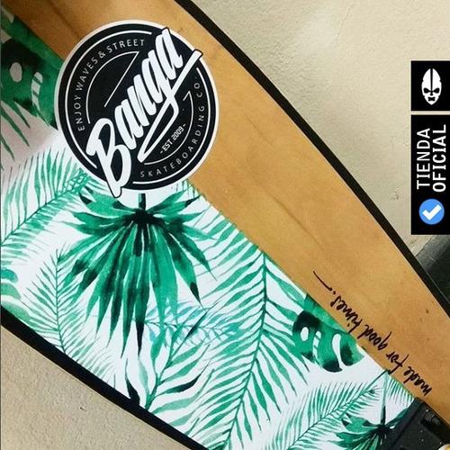 40% off - mini longboard fisthail banga reyes - envió gratis