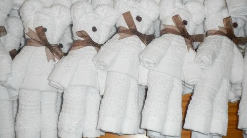 40 ositos toalla facial recuerdos bautizo baby