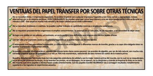 40 papel transfer blormast ropa tela oscura estampado textil