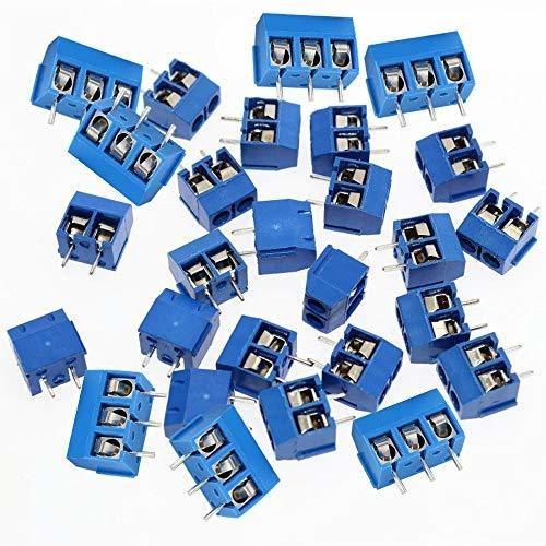 40 piezas 2 pines y 3 pines tornillo azul pcb montaje termin