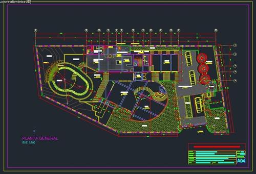 40 planos arquitectónicos  de casas residenciales.
