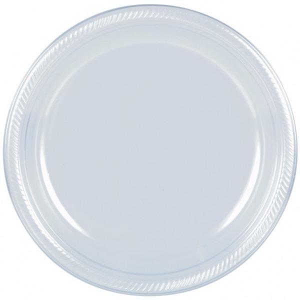 40 Platos 10in Alimentos Cristal Transparente Desechables -   620.00 ... 554d12181c1e