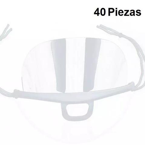 40 pza cubrebocas mascarillas reutilizables plástico lavable