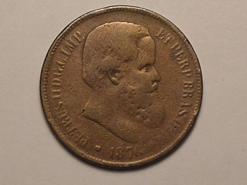 40 réis 1876 - data rara / bronze / bonita
