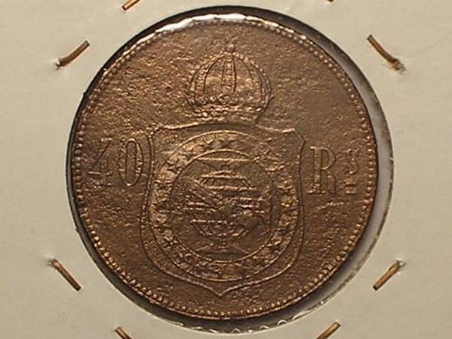 40 réis 1876 - data rara / bronze / brasil