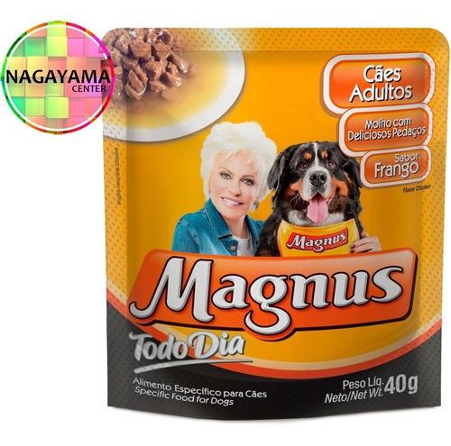 40 sachê magnus todo dia cães 40g - variados