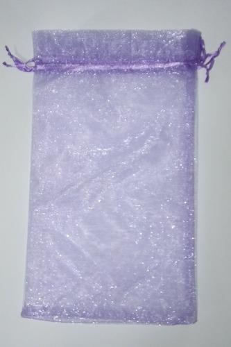 40 saquinhos de organza lilás, roxo 20x35cm p/ chinelo