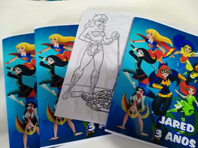 40 Souv Lib10 X 15cm 12 Pag Para Colorear Supergirl