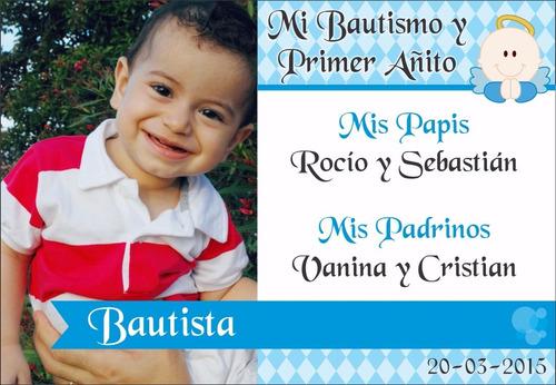 40 tarjetas eventos cumpleaños bautismos invitación 9x13cm