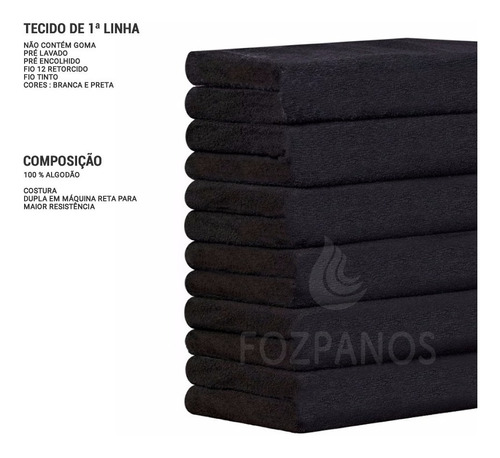 40 toalhas para salão - 100% algodão - atacado