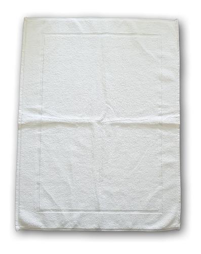 40 toalla tapete torzal recuadro bca, 50x70 cm, peso 270 gr