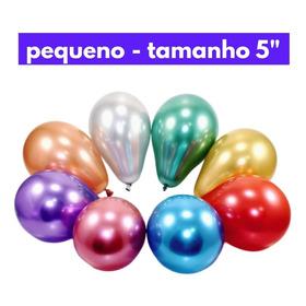 40 Unidades - Balão Cromado Para Bolo - Balloon Cake