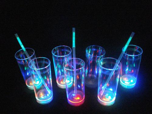 40 vasos luminosos 3 led cotillon eventos  luces belgrano