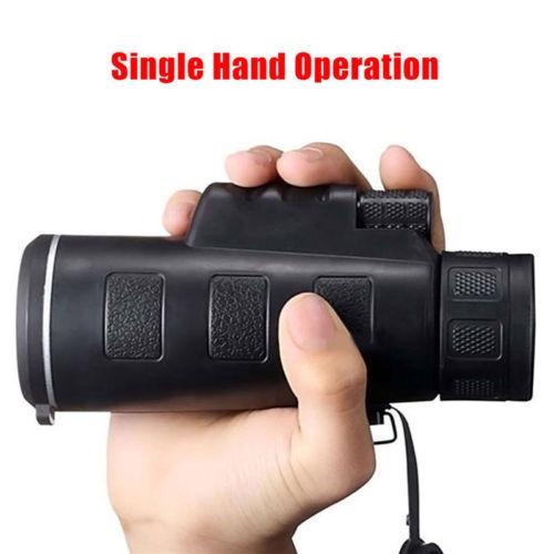 40 x 60 hd doble foco prisma óptico monocular celular telesc