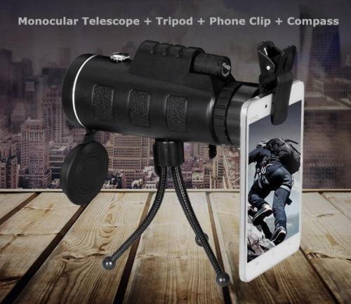 40 x 60 zoom hd doble foco óptica viaje monocular compacto t