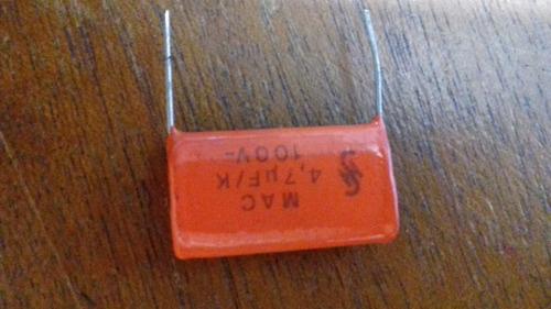 40 x capacitor de poliester 4,7uf/k x 100v siemens / 40pçs
