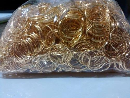 400 argolas em aço inox dourada montagem de lustres 10mm