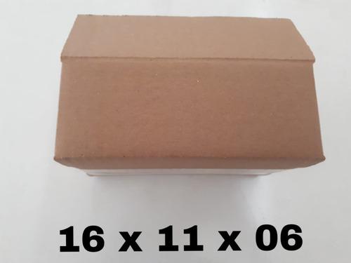 400 caixas de papelão 16x11x6.