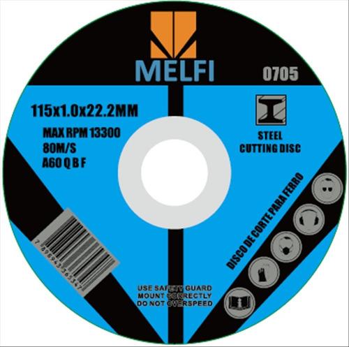400 disco p/ corte ferro extra fino 115 x 1,0 x 22,2mm