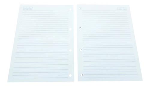 400 folhas refil de caderno argolado universitário fichário