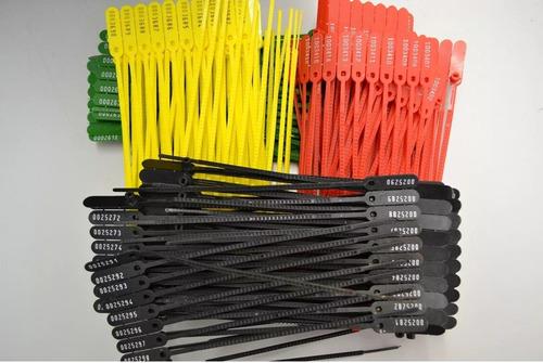 400 lacres plastico numerados 23 cm rompe  fácil  coleção