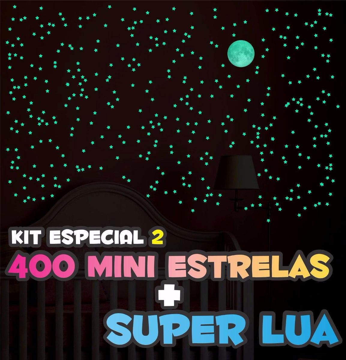 6a923f5c1 400 mini estrelas que brilham no escuro + super lua. Carregando zoom.