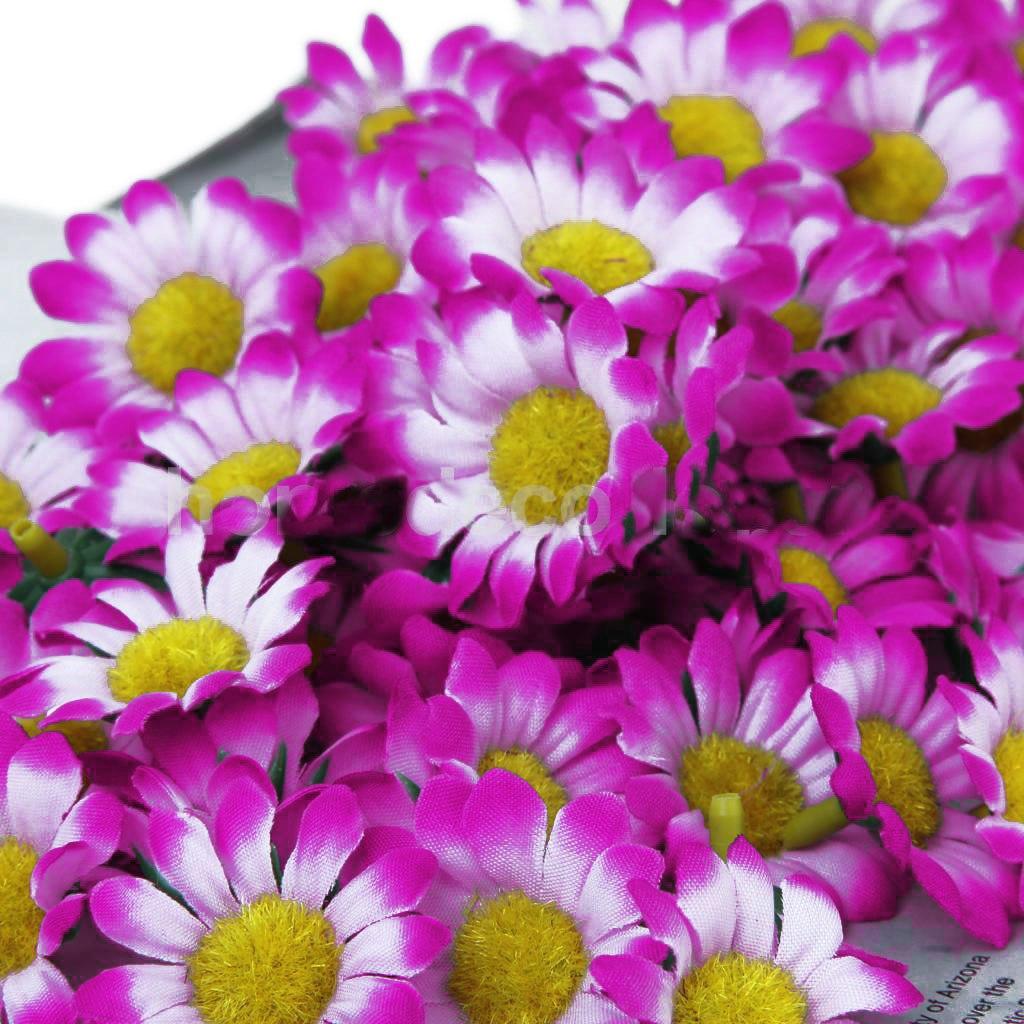 400 Mini Flores Artificiais Lilás Margaridas Florzinhas R 6400