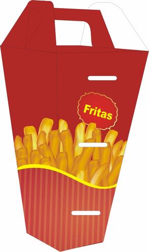 400 pçs caixa embalagem delivery p batata fritas cone