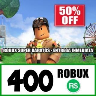 400- robux roblox mejor precio todas las plataformas!