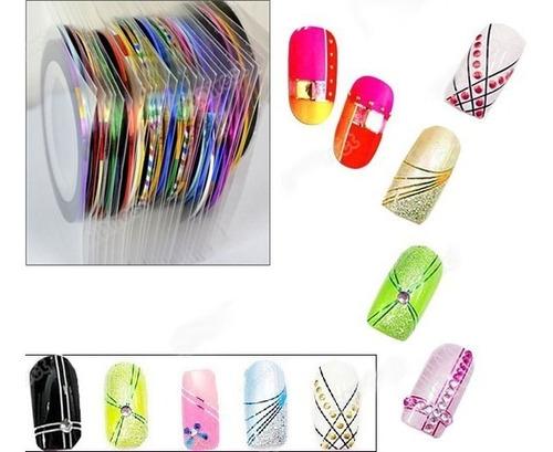400 rolos fita fio unha decoração nail  luxo metalica brinde