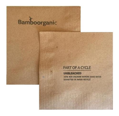 400 servilletas coctel papel kraft biodegradables 4 hojas