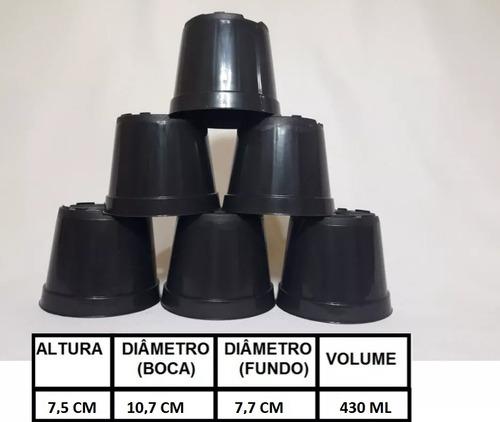 400 vasos pote 11 plástico preto 430 ml cactos suculentas