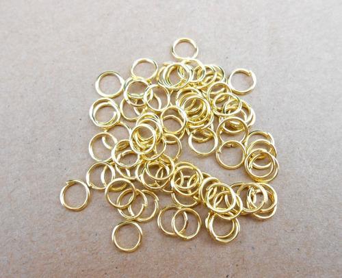 4000 argolas douradas em alumínio montagem de lustres 09mm