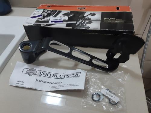 40091-10- pedal de freio - edge cut - preto - harley