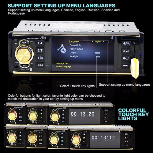 4019b auto estéreo audio coche mp5 4.1tft con cámara usb 2.0