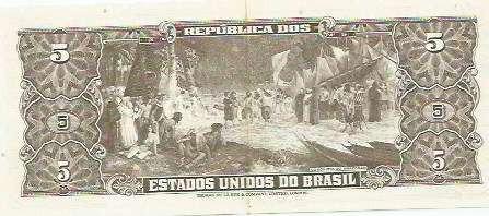 404 - cédula brasil c071 - cinco cruzeiros