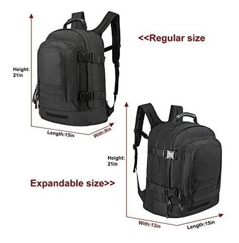 40l ampliable morral maleta  militar táctica expandible