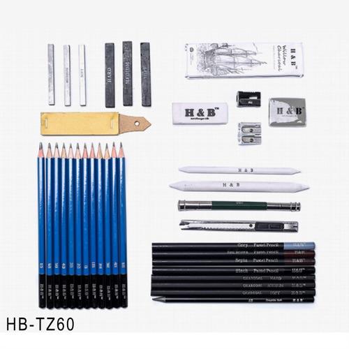 40pcs carbón esbozando lápices arte proveedor equipo para