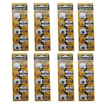 40pcs cr1025 5033lc 3v de litio blister pack 3.0 voltios bat