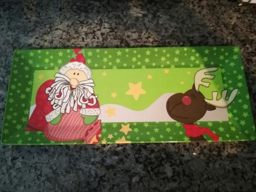 4,1 bandeja con motivo de navidad para pan de jamón usada.