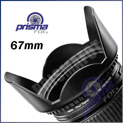 411 lens hood - parasol de petalo para lentes de 67mm