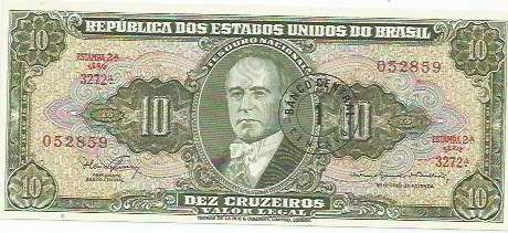 412 - cédula brasil c114 - dez cruzeiros