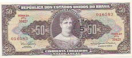 413 - cédula brasil c115 - cinquenta cruzeiros