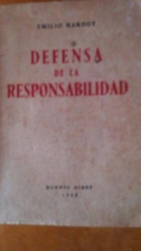 4158 libro defensa de la responsabilidad emilio hardoy 1958