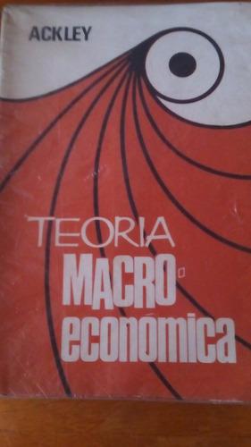 4165 libro teoria macroeconomica ackley macchi