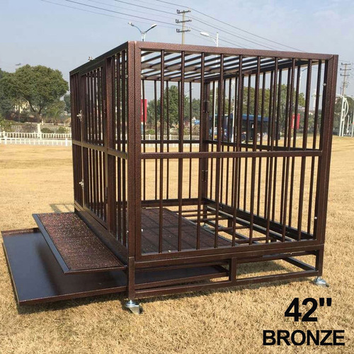 42-inch perro cajón kenel heavy duty jaula del animal domé