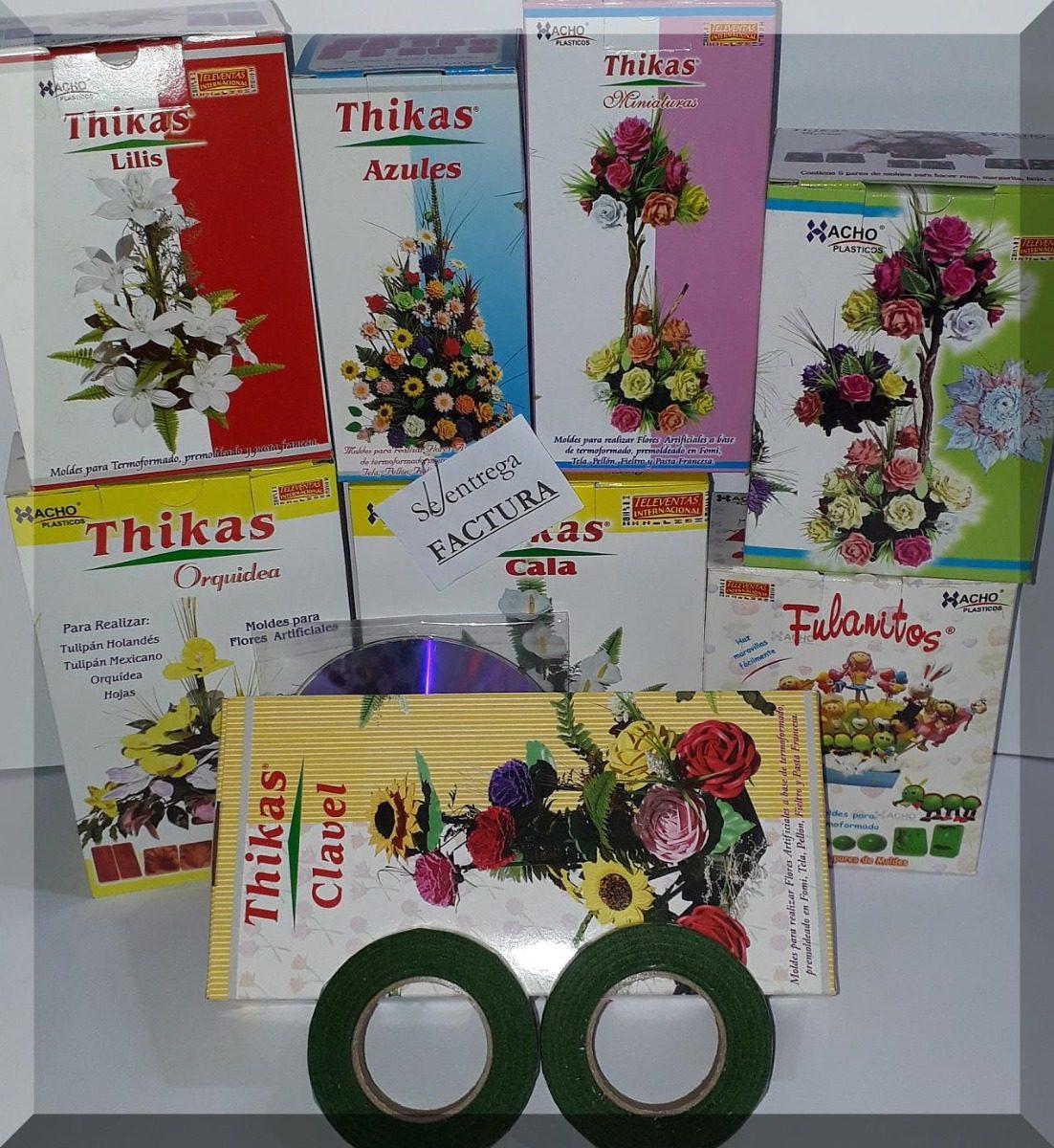 42 Pares De Moldes Para Hacer Flores Con Goma Eva 8 Kits 1 855