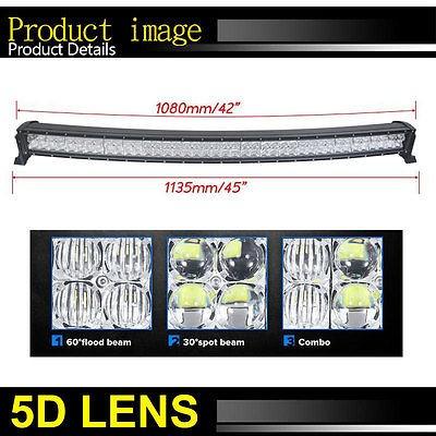 42 pulgadas 800w curva led light bar 5d cree combo spot inun