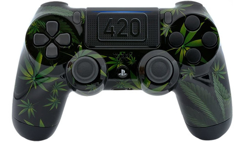 420 negro ps4 pro custom un-modded controller exclusivo dise